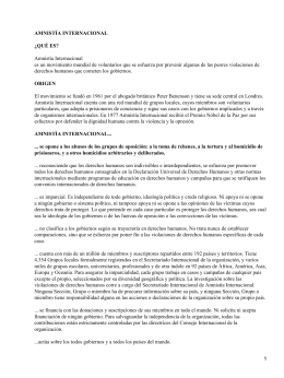 ONG (Organización no Gubernamental): Amnistía Internacional