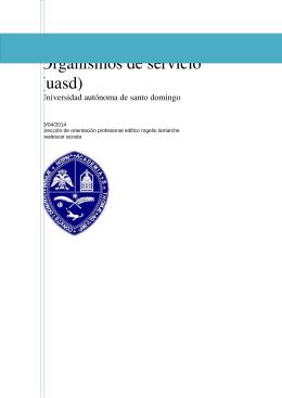 Organismos de servicios en la UASD