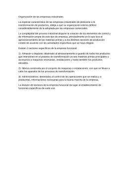 Organización de las empresas industriales