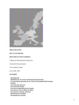 Organización de un centro de documentación europea