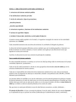Organización sanitaria general en España