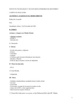 INSTITUTO TECNOLÓGICO Y DE ESTUDIOS SUPERIORES DE MONTERREY CAMPUS GUADALAJARA Redacción Avanzada Prof.
