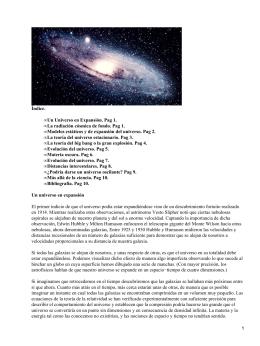 Origen y expansión del Universo