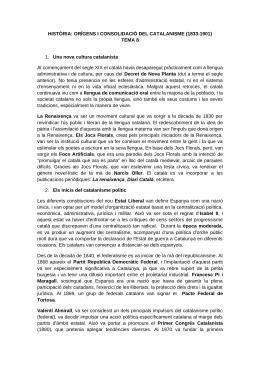 Origens i consolidació del catalanisme