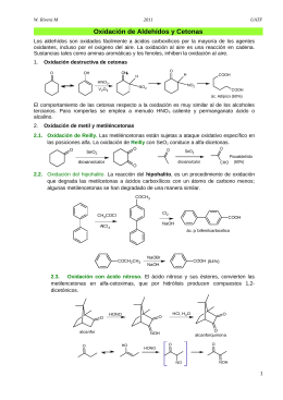 Oxidación de aldehídos y cetonas