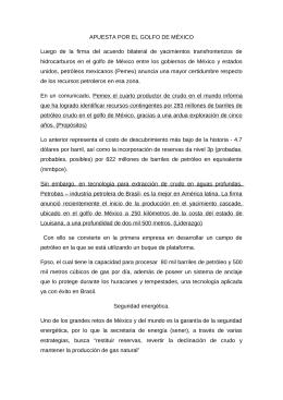 APUESTA POR EL GOLFO DE MÉXICO