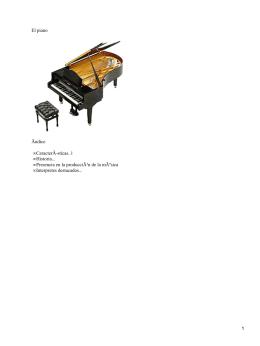 El piano Ãndice CaracterÃ-sticas..1 Historia...
