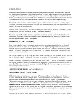 Planificación turística para el Puerto de Veracruz