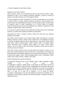 1. Escribe la biografía de Juan Ramón Jiménez