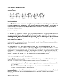 Poder reductor de los carbohidratos