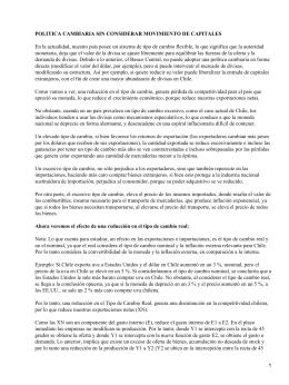 Política cambiaria en Chile