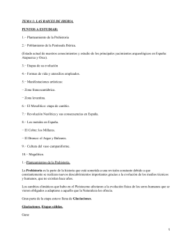 TEMA 1: LAS RAICES DE IBERIA. PUNTOS A ESTUDIAR: