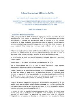 Prescripción de medidas provisionales con respecto al artículo 290 de sobre derecho del mar
