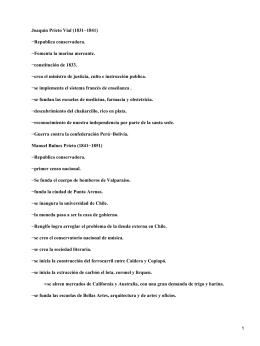 Presidentes chilenos del siglo XIX