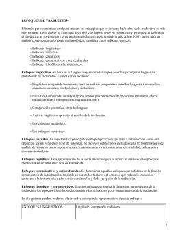 Principales enfoques de Traducción e Interpretación