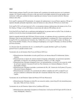 Principales minas metálicas en España