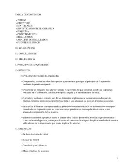 TABLA DE CONTENIDO TITULO OBJETIVOS MATERIALES