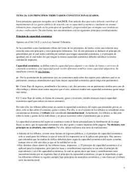 Principios Tributarios constitucionales españoles