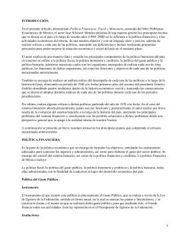 Problemas Económicos de México; José Silvestre Méndez