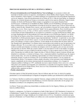 Proceso de hominización de la Península Ibérica