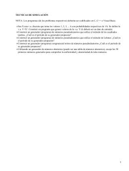 TECNICAS DE SIMULACIÓN •