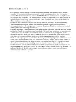 ESTRUCTURA DE DATOS II •