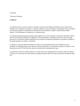 Recursos naturales de Chile y la región metropolitana
