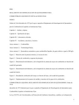 Reglamento de Homologación de Quemadores para la Combustión de Líquidos en Instalaciones Fijas