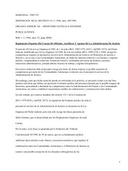 Reglamento Orgánico del Cuerpo de Oficiales, Auxiliares y Agentes de la Administracion de Justicia