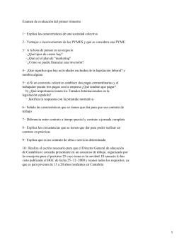 Examen de evaluación del primer trimestre