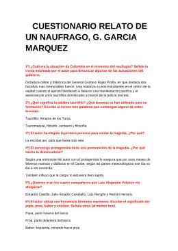 relato de un naufrago essay Garcia marquez, gabriel - relato de un naufragopdf garcia marquez, gabriel - relato de un naufragopdf sign in details main menu.