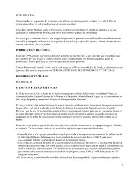 Represión política en Argentina