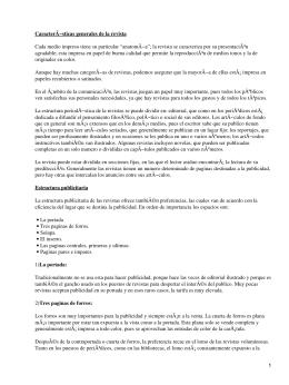 Revistas. Características generales