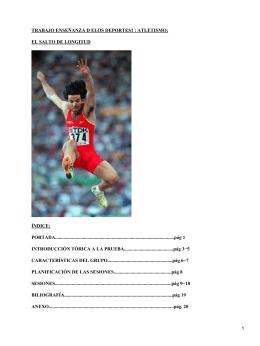 Salto de longitud, atletismo