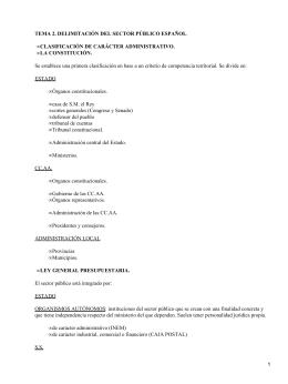 Sector público español