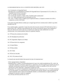 Seguridad Social en Constitución Española de 1978
