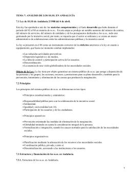 Servicios sociales en Andalucía