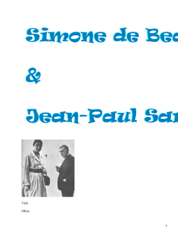Simone de Beauvoir y Jean Paul Sartre