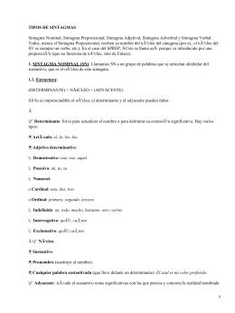 Funciones del sintagma nominal y verbal