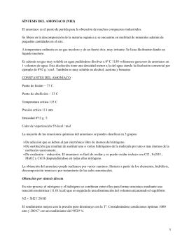 Síntesis de Amoniaco, Ácido Nitrico y Ácido Sulfurico