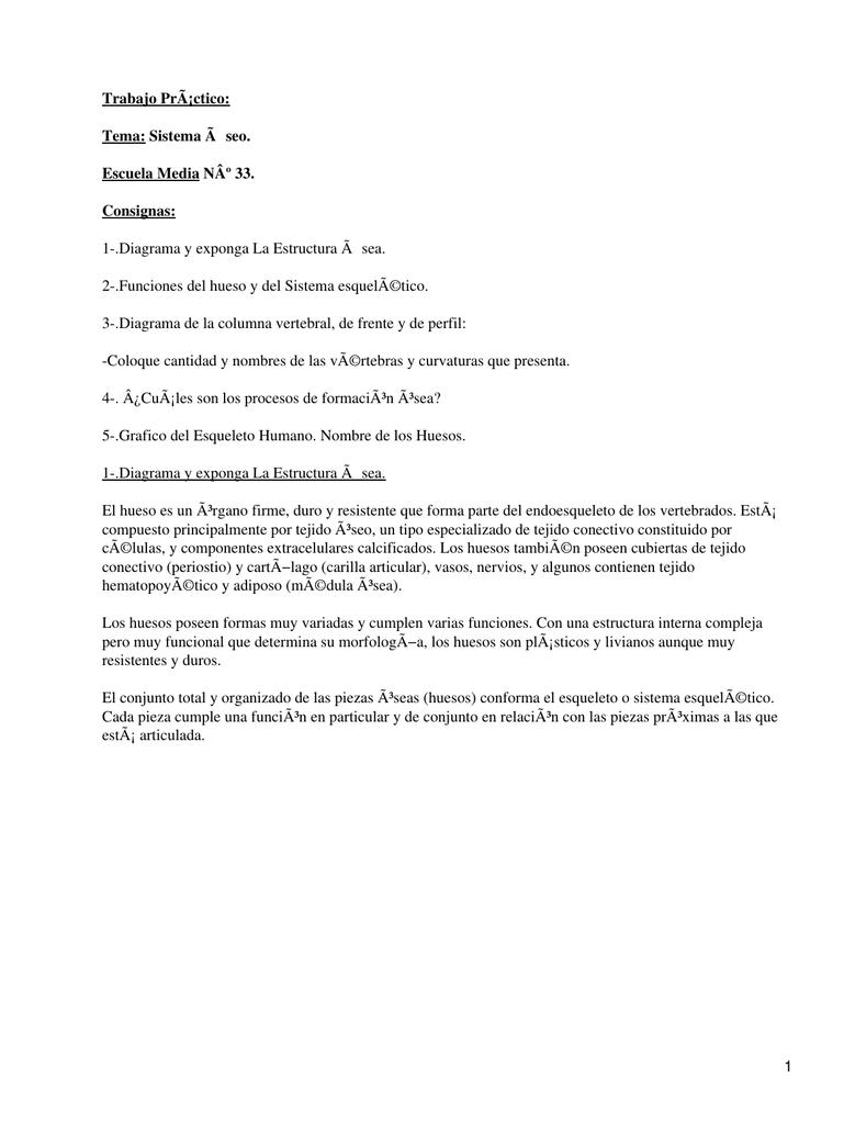 Trabajo Práctico: Tema: Sistema à seo. Escuela Media Nº 33. Consignas: