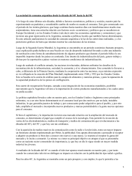 Sociedad de consumo en Argentina