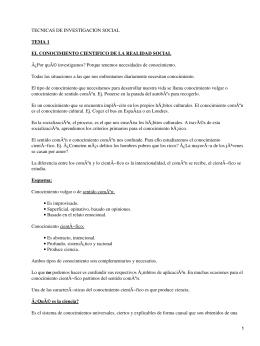 TECNICAS DE INVESTIGACION SOCIAL TEMA 1