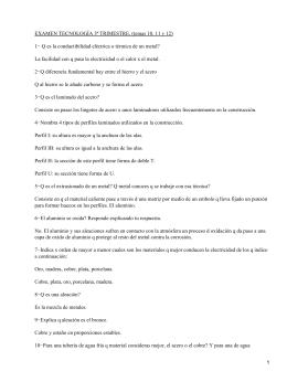 EXAMEN TECNOLOGÍA 3ª TRIMESTRE, (temas 10, 11 y 12)