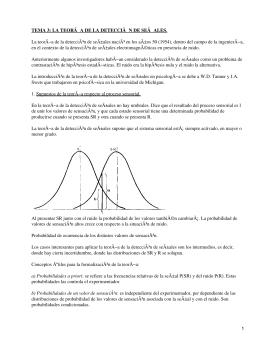 Teoría de la detección de señales