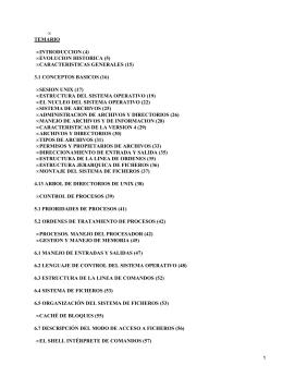 • TEMARIO INTRODUCCION (4) EVOLUCION HISTORICA (5)