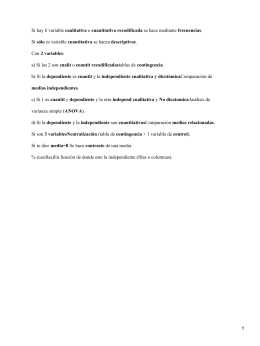 Variables cualitativas o recodificadas