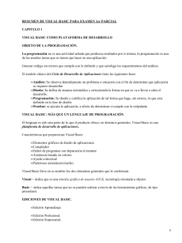 RESUMEN DE VISUAL BASIC PARA EXAMEN 1er PARCIAL CAPITULO 1