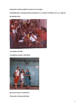 Voluntarios en la Cárcel de Riohacha