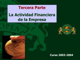 Actividad financiera de la empresa